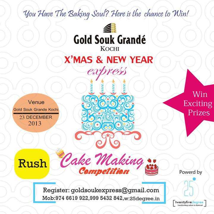 Cake Making Classes In Kochi : Cake Making Competition on 23 December 2013 at Gold Souk ...