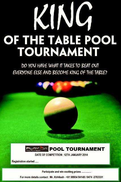 King Of The Table Pool Tournament On January At Play On - King of pool table