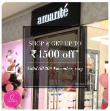 Amante 12 Years Celebration Offer  Valid upto 30th November 2019