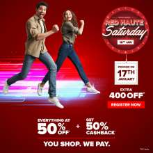 Central presents Red Haute Saturday  Sale on 18th January 2020